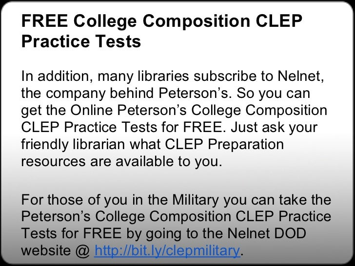 Free In-depth CLEP College Composition Study Guide - YouTube