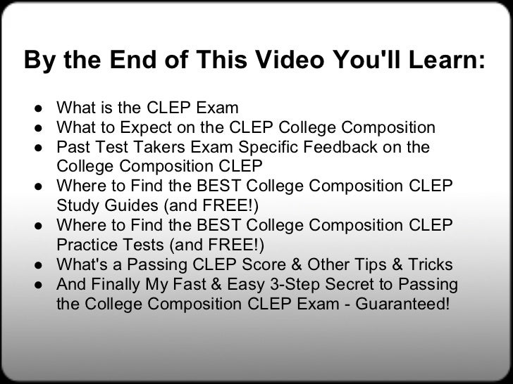 CLEP College Composition Exam Prep