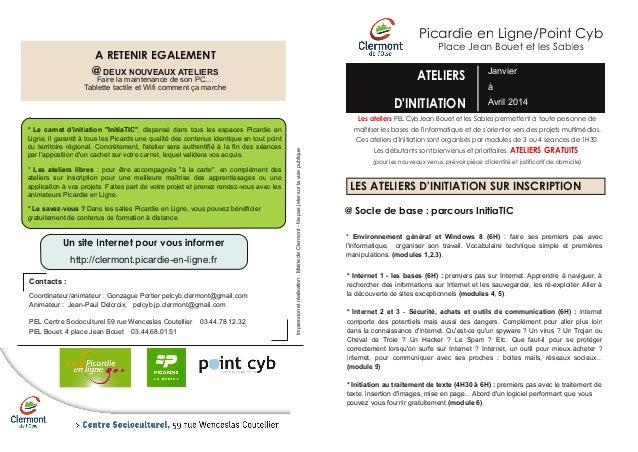 Picardie en Ligne/Point Cyb Place Jean Bouet et les Sables  A RETENIR EGALEMENT  @ DEUXmaintenance deATELIERS NOUVEAUX Fai...
