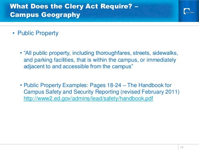 the clery act Clery act compliance tcc's department of public safety works diligently to ensure compliance with the clery act for the safety of tcc's students, faculty, staff, and visitors annual security report this report contains campus crime statistics and safety-related policy statements.