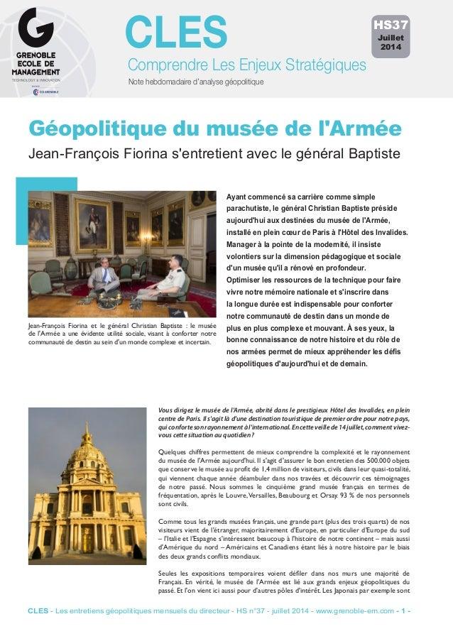 Note hebdomadaire d'analyse géopolitique Comprendre Les Enjeux Stratégiques CLES Ayant commencé sa carrière comme simple p...