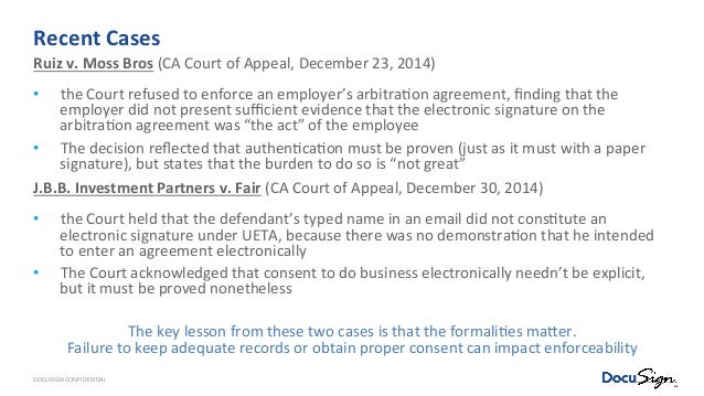 Legality Of Electronic Signatures Cle Webinar 71216