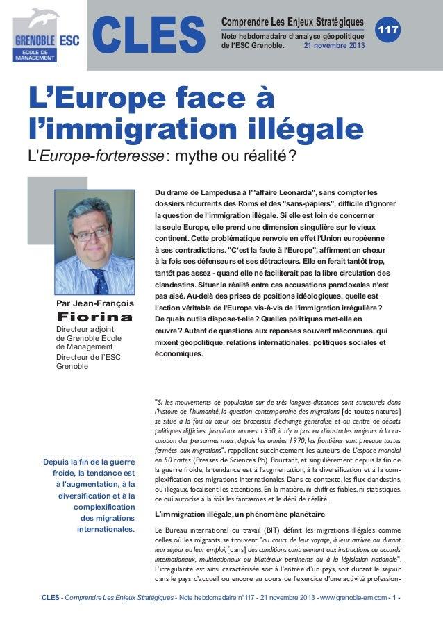 CLES  Comprendre Les Enjeux Stratégiques Note hebdomadaire d'analyse géopolitique de l'ESC Grenoble. 21novembre 2013  117...