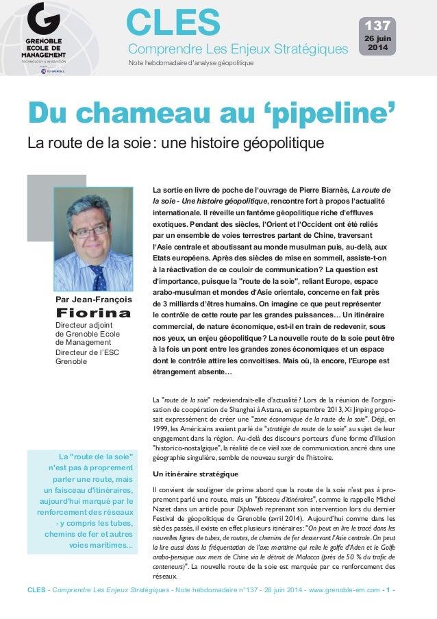 Note hebdomadaire d'analyse géopolitique Comprendre Les Enjeux Stratégiques CLES La sortie en livre de poche de l'ouvrage ...