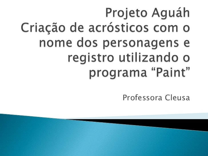 Professora Cleusa