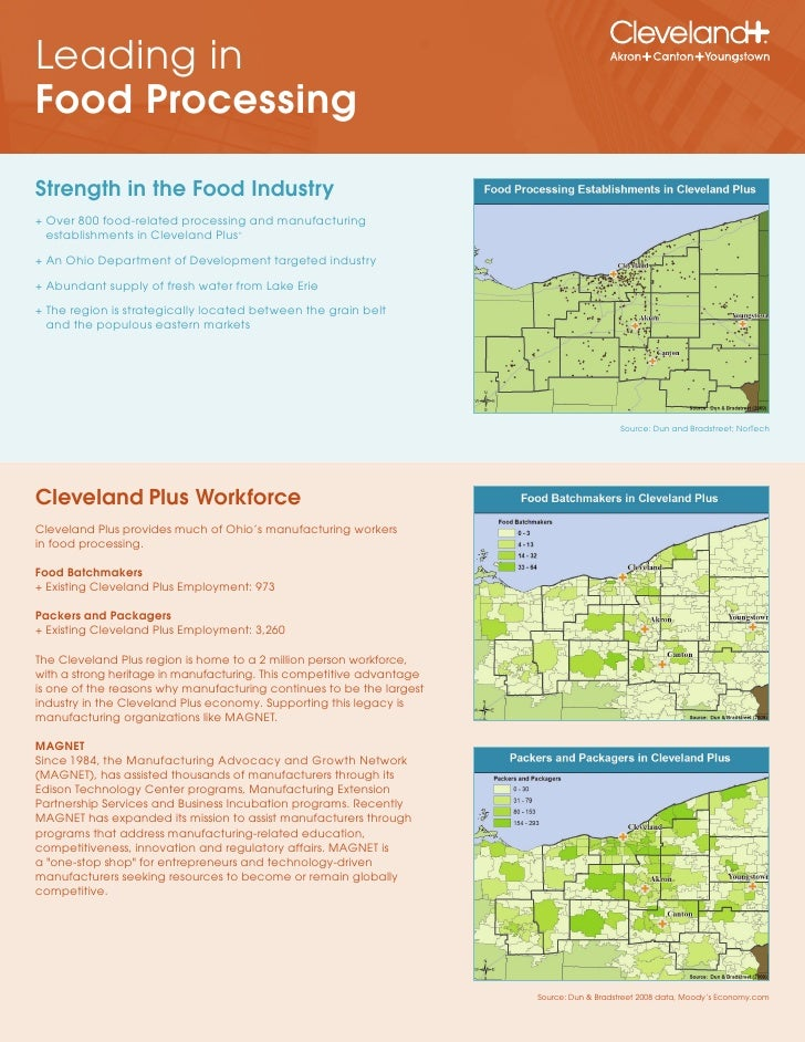 Leading in Food Processing  Strength in the Food Industry + Over 800 food-related processing and manufacturing   establish...
