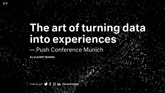 The Art of turning data into experiences