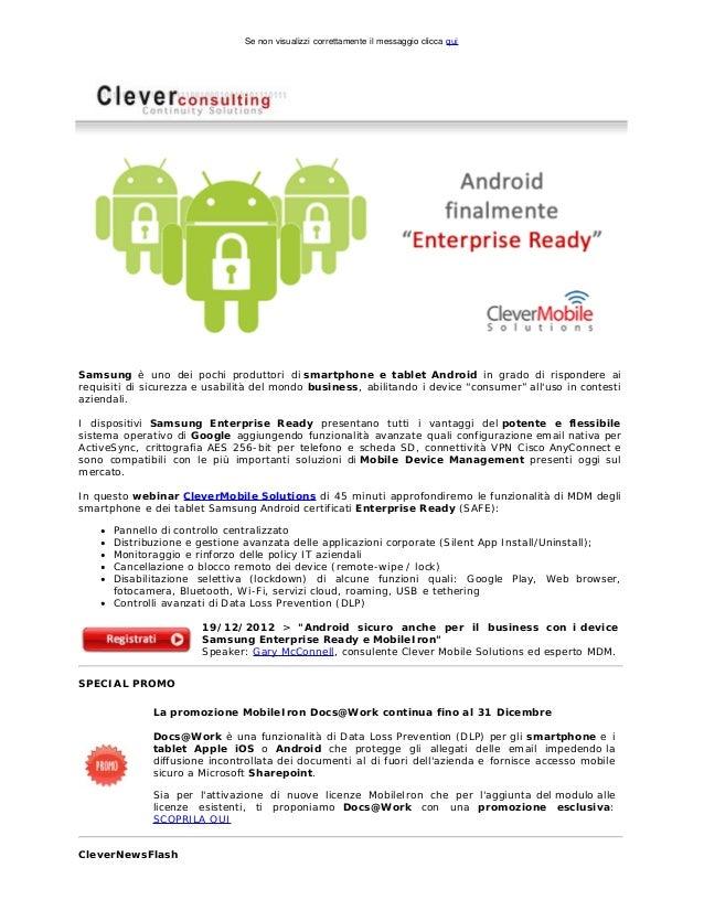 Se non visualizzi correttamente il messaggio clicca quiSamsung è uno dei pochi produttori di smartphone e tablet Android i...