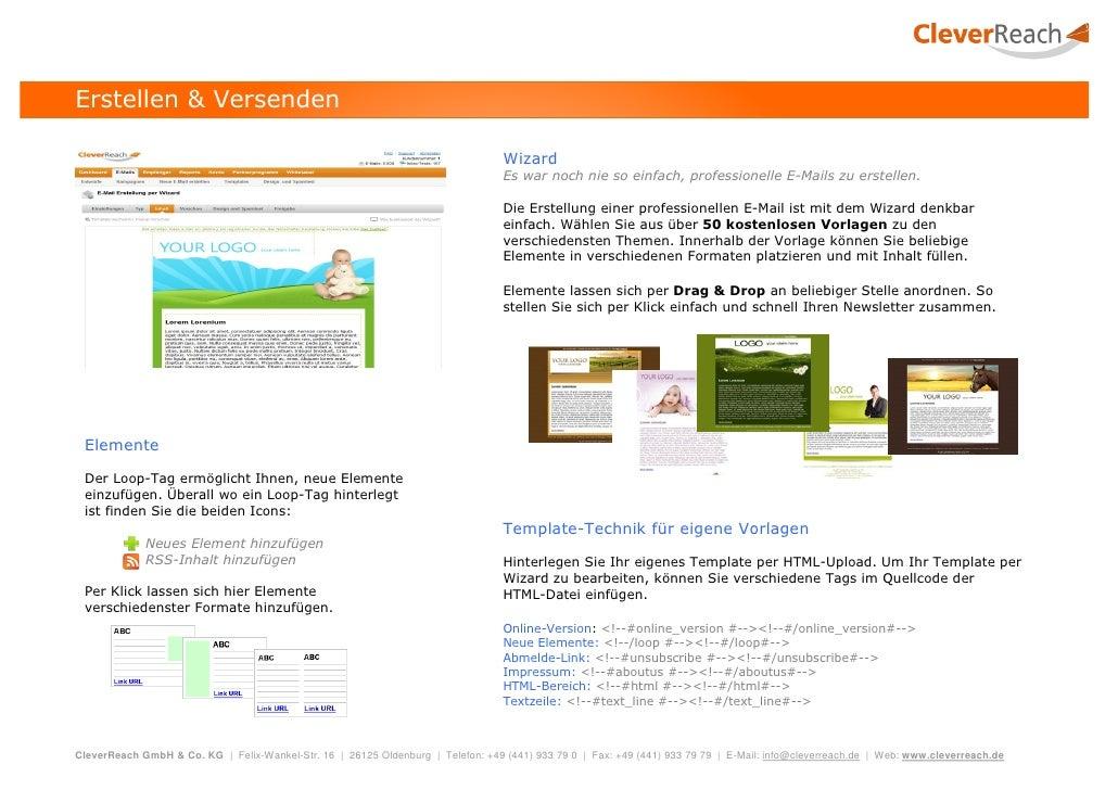 CleverReach Produktbroschüre