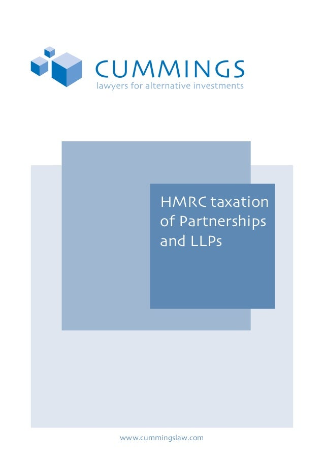 HMRC taxation of Partnerships and LLPs  www.cummingslaw.com