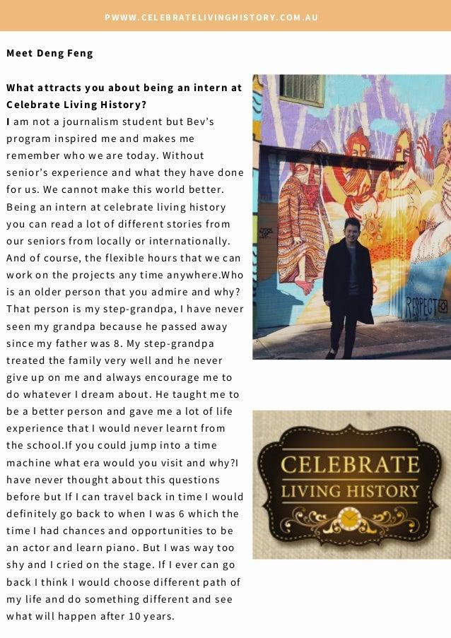 Latest Celebrate Living History mini-magazine  Slide 3