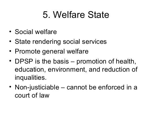 characteristics of welfare state pdf