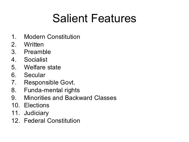 essay on salient features of democracy Essay on the main features of the new deal - the main features of the new deal there were several features of the new deal, for example new laws and agencies were created the tennessee valley authority was set up in 1933 and helped a huge area of america and covered seven states, which needed to catch up with the rest of the usa.