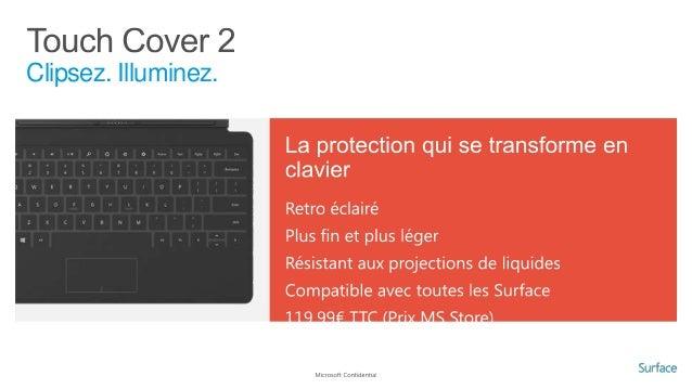 Avantages d'une tablette Windows 8 3. Productive et compatible •  Obéit au doigt, au stylet, à la souris ou au clavier… se...
