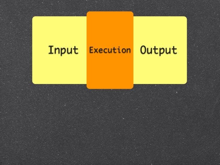 Input   Execution   Output         System