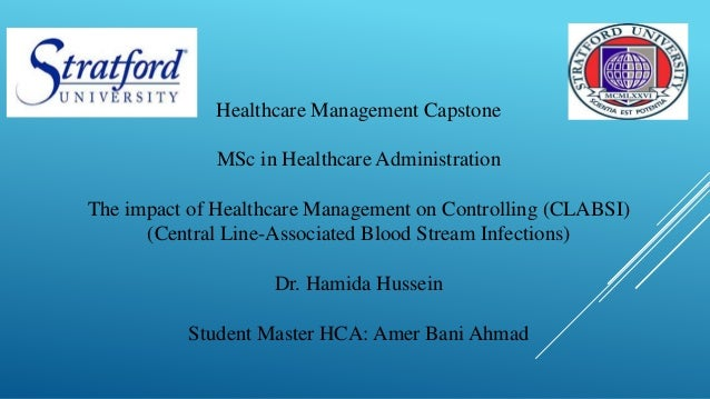 the impact of healthcare management on controlling clabsi central