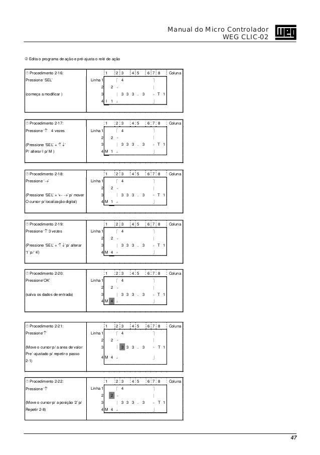 8c880e9e20f ... 48. 48 Manual do Micro Controlador WEG CLIC-02 ...