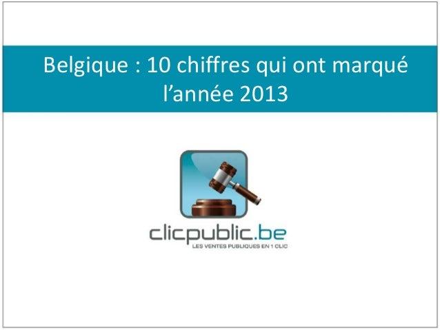 Belgique : 10 chiffres qui ont marqué l'année 2013