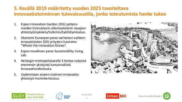 5. Kesällä 2019 määritetty vuoden 2025 tavoiteltava innovaatiotoiminnan tulevaisuustila, jonka toteutumista hanke tukee 1....
