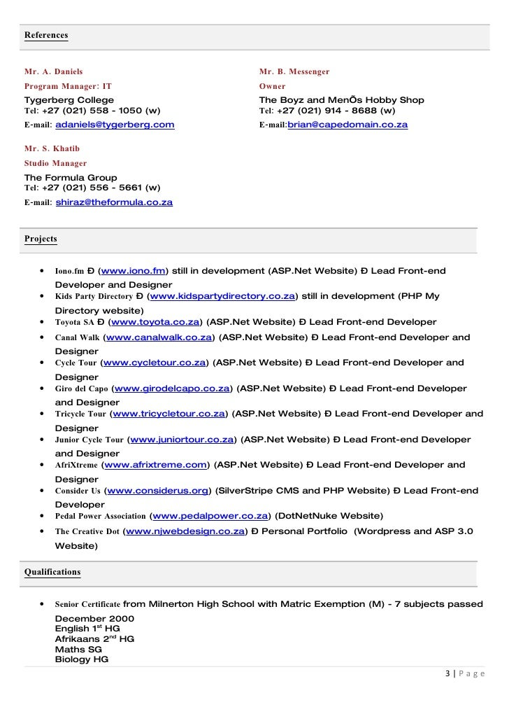 Click here to download my cv in word formatc 2page 3 yelopaper Choice Image
