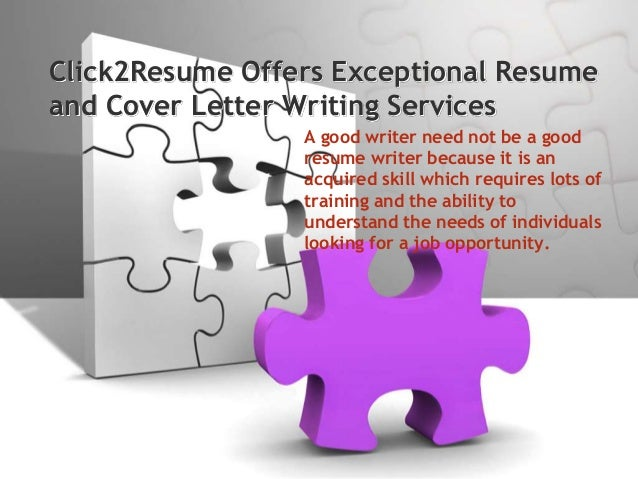 Click2resume offers exceptional resume and cover letter writing