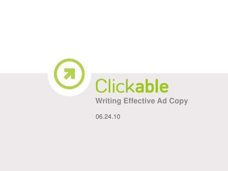 writing ad copy that converts