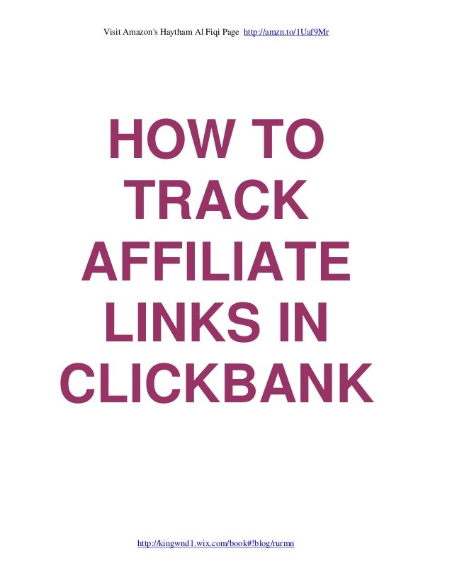 Visit Amazon's Haytham Al Fiqi Page http://amzn.to/1Uaf9Mr http://kingwnd1.wix.com/book#!blog/rurmn HOW TO TRACK AFFILIATE...