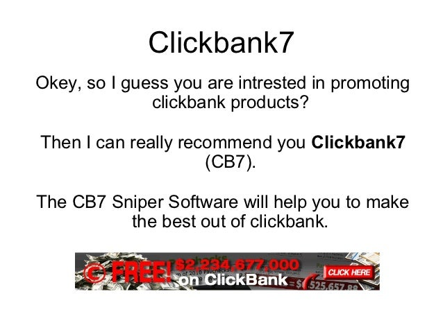 Clickbank7Okey, so I guess you are intrested in promoting              clickbank products?Then I can really recommend you ...