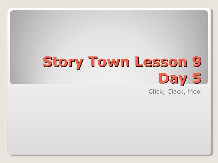Click Clack Moo Lesson 9 Day 5