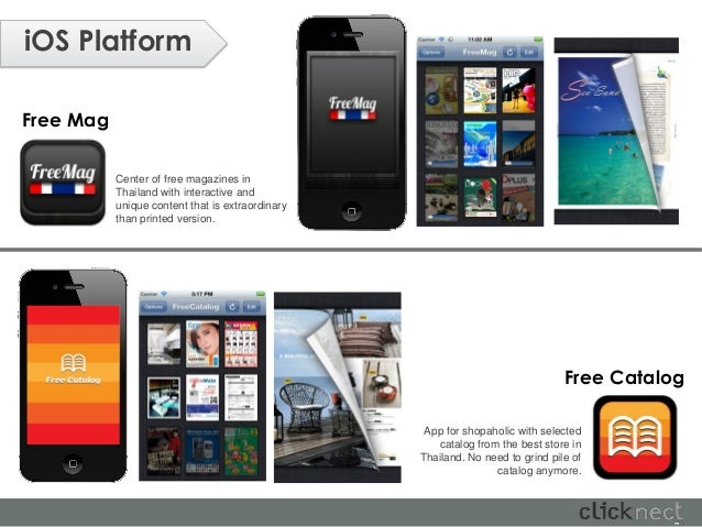 iOS PlatformFree Mag           Center of free magazines in           Thailand with interactive and           unique conten...