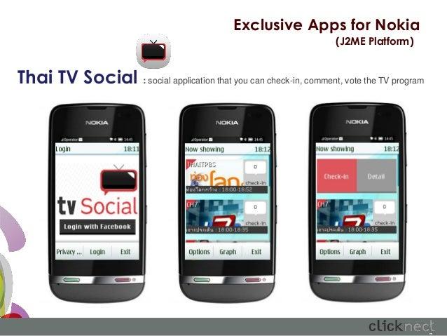 Exclusive Apps for Nokia                                                                    (J2ME Platform)Thai TV Social ...