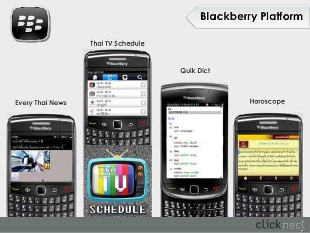 Blackberry Platform                  Thai TV Schedule                                     Quik DictEvery Thai News        ...