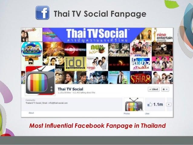 Thai TV Social FanpageMost Influential Facebook Fanpage in Thailand