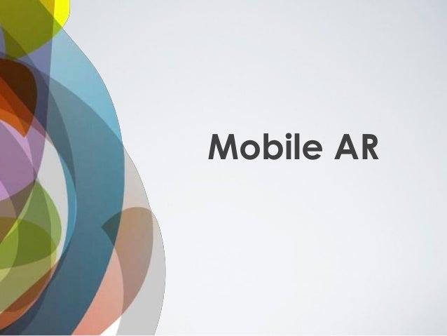 Mobile AR