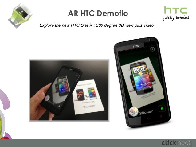 AR HTC DemofloExplore the new HTC One X : 360 degree 3D view plus video
