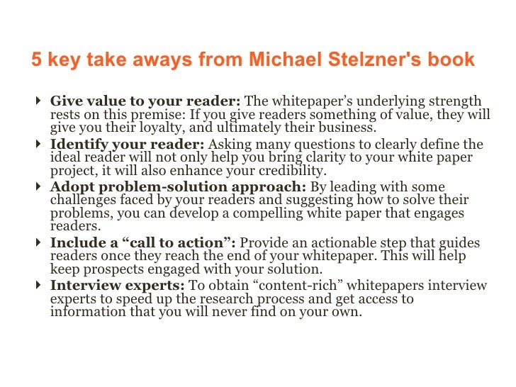 Michael stelzner how to write a white paper
