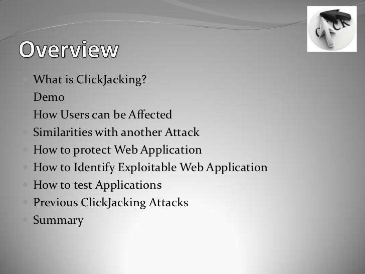 Click jacking Slide 2