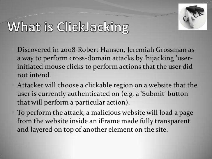 Click jacking Slide 3