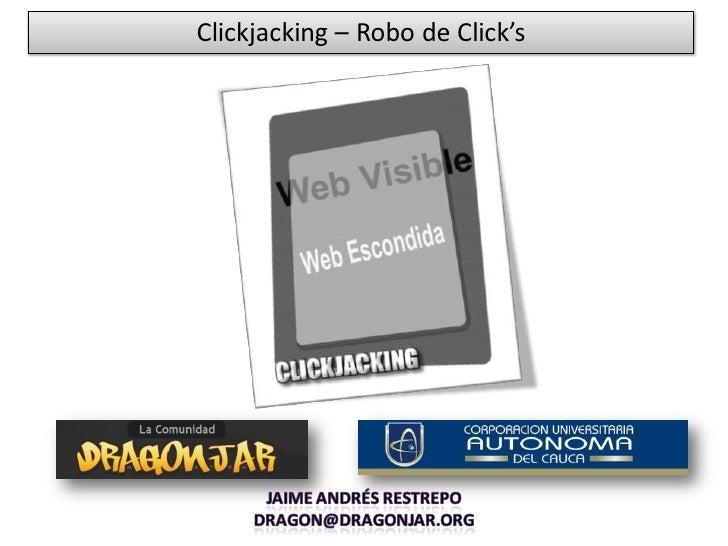 Clickjacking – Robo de Click's