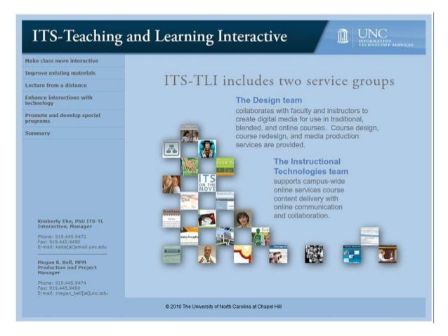 Hake class more interactive  Improve existing materials  ITS—TLI includes two sci'r'icc groiips  Lecture from B disiance  ...