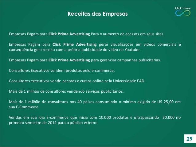 Empresas Pagam para Click Prime Advertising Para o aumento de acessos em seus sites. Empresas Pagam para Click Prime Adver...