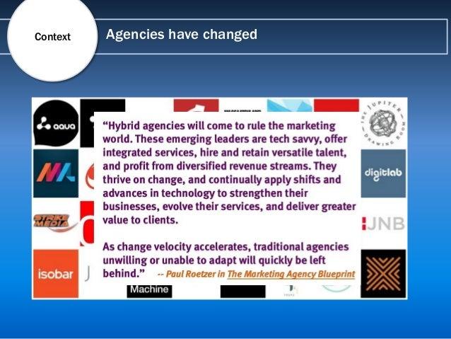 Agencies have changedContext