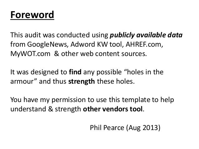 Clicktale vendor privacy audit august 2013 clicktale privacy review by phil pearce aug 2013 2 foreword this audit maxwellsz