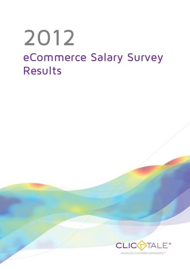2012eCommerce Salary SurveyResults