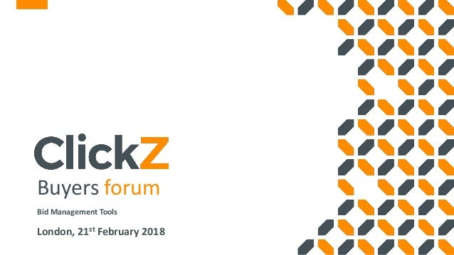 Clickz Buyers Forum Bid Management Ppc Social Media Display