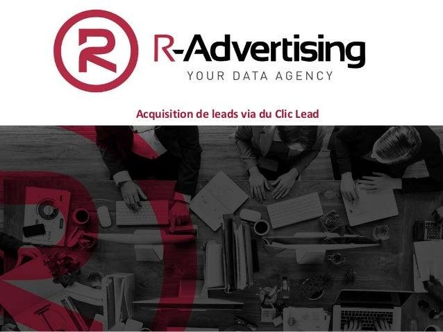 Acquisition de leads via du Clic Lead
