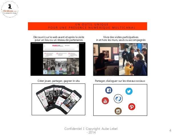 Confidentiel I Copyright Aube Lebel - 2014  4  Découvrir sur le web avant et après la visite pour un lieu ou un réseau de ...