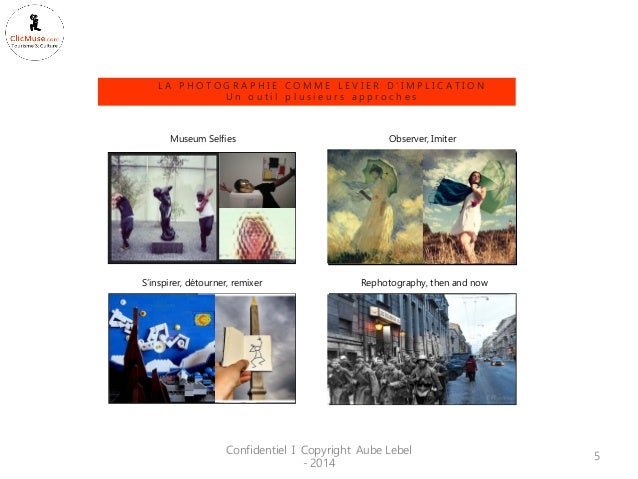 Confidentiel I Copyright Aube Lebel - 2014  5  Museum Selfies  Rephotography, then and now  Observer, Imiter  S'inspirer, ...