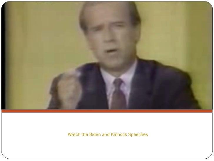Watch the Biden and Kinnock Speeches