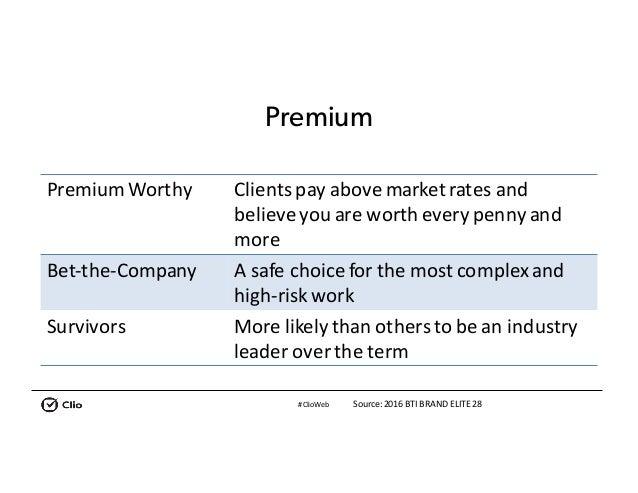 #ClioWeb Premium Premium Worthy Clientspayabovemarketratesand believeyouareworthevery pennyand more Bet-the-Co...